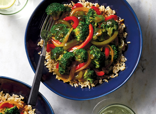 Broccoli and Pepper Stir-Fry